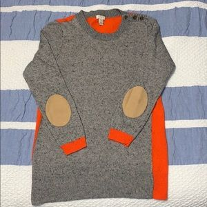 j Crew Orange & Heather Grey Sweater